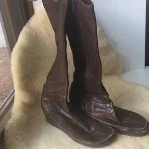 Via Spiga wedge leather Boots